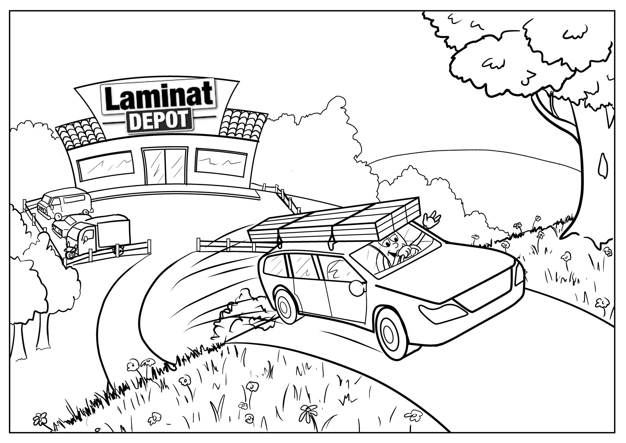 Laminat Depot Coloring Book Interior