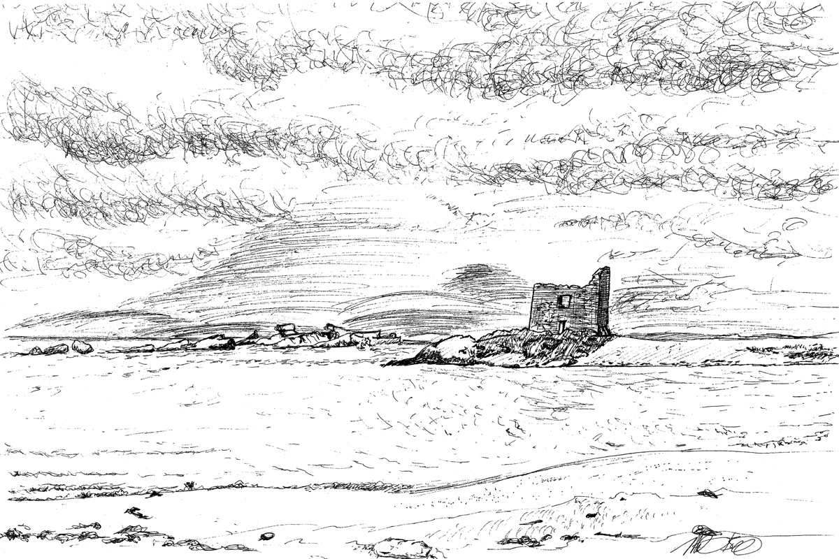 Lonely Castle on the Ring of KerryPrice: $85