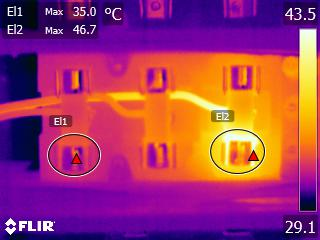 Thermal imaging camera image