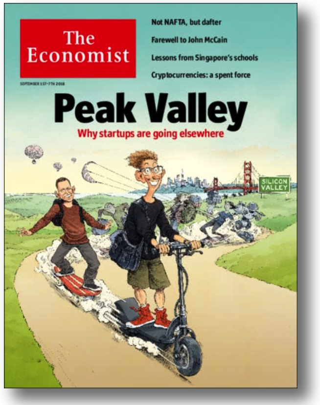 Forbes - September 18, 2018 - What The Economist Got Wrong About the Decline of Silicon Valley