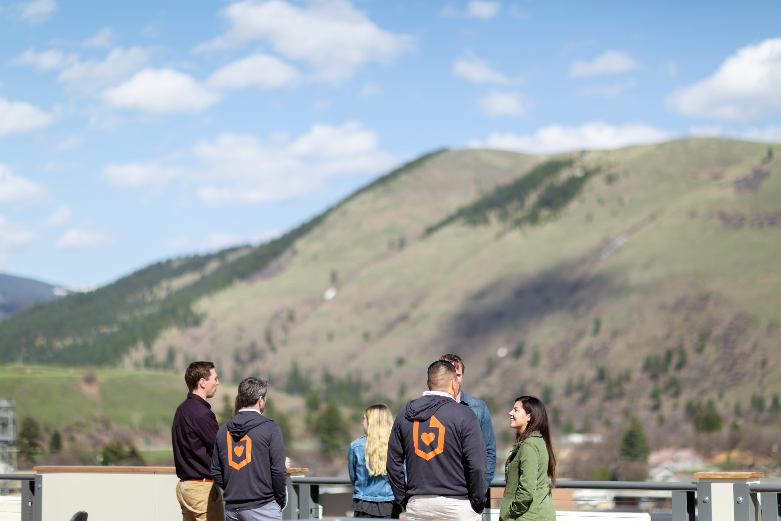 Staff hanging out at the Missoula-based headquarters