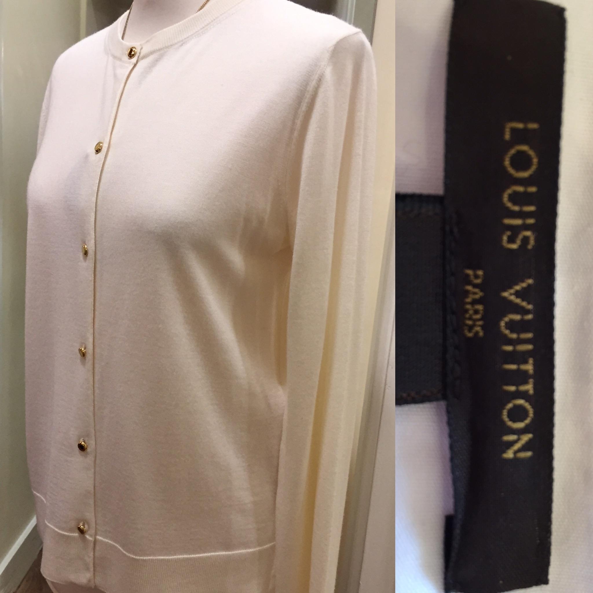 Louis Vuitton cream cashmere silk mix cardigan £99.jpg