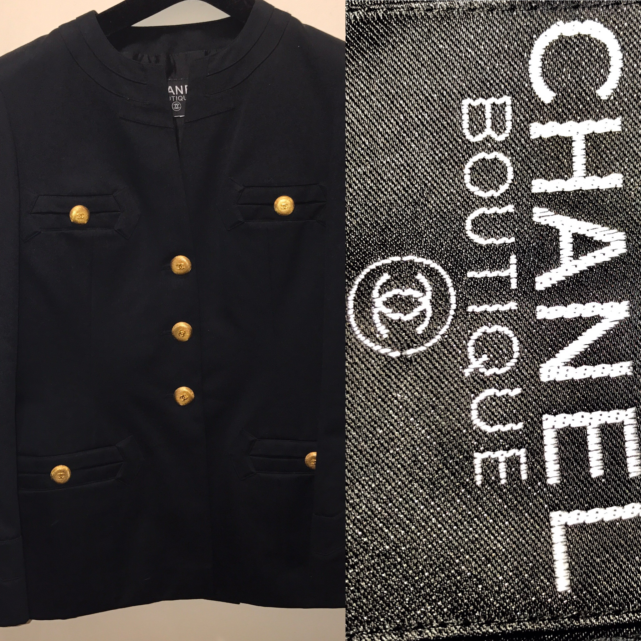 Chanel jacket navy blue £499 (1).JPG