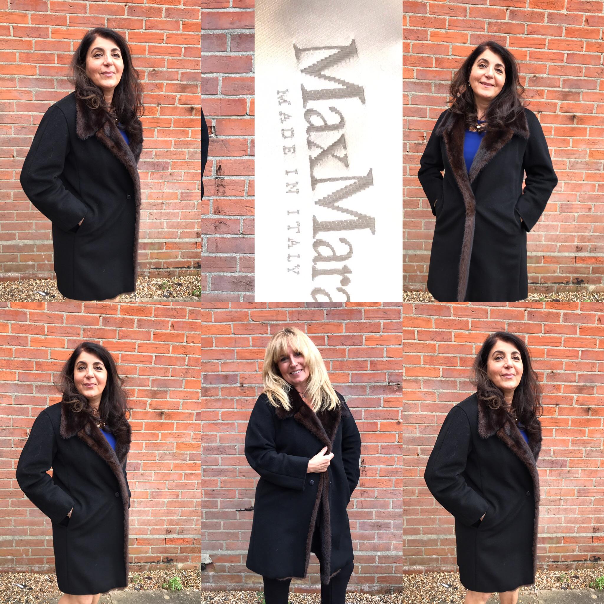 Max Mara duffle coat with mink trim £499 size 14.JPG