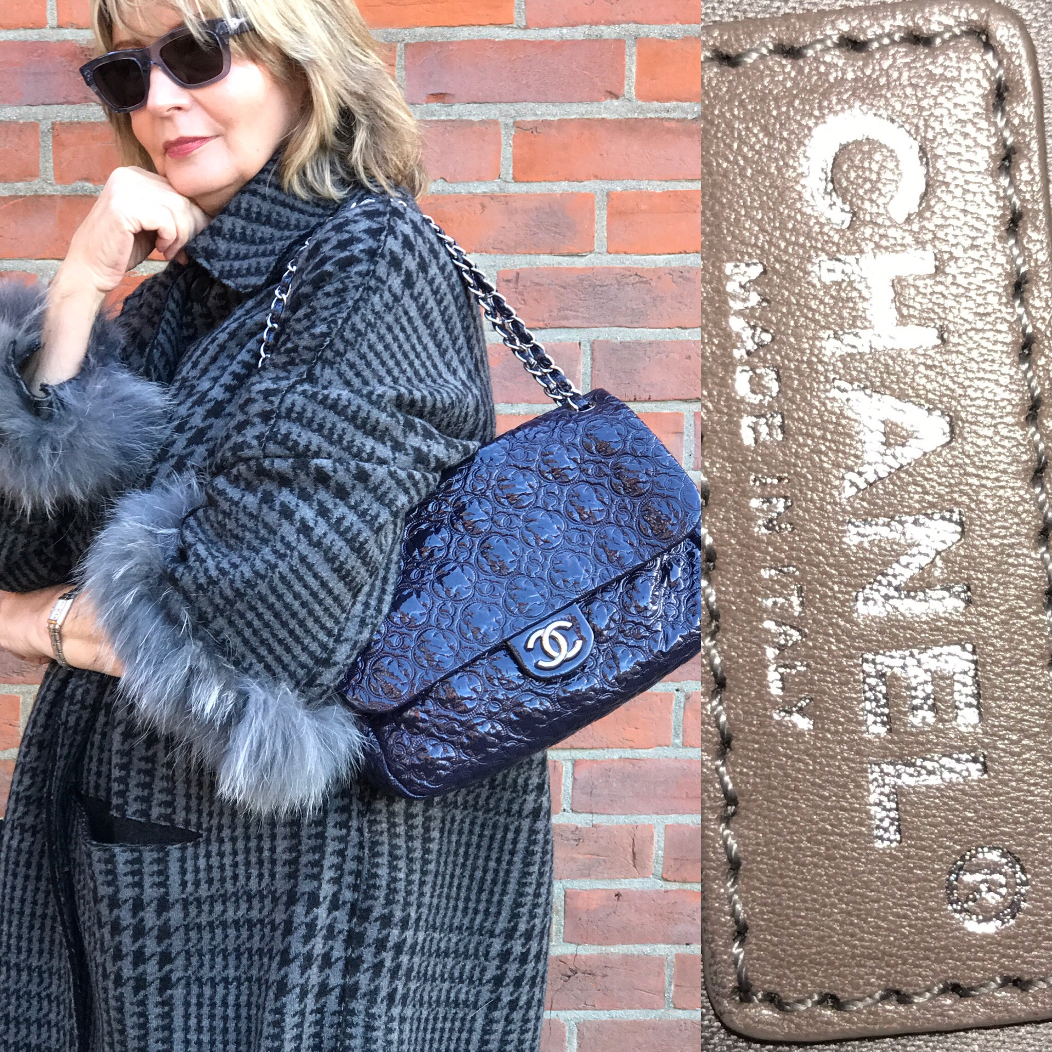 Chanel bag with all provenance £1600. Midnight blue colour.JPG