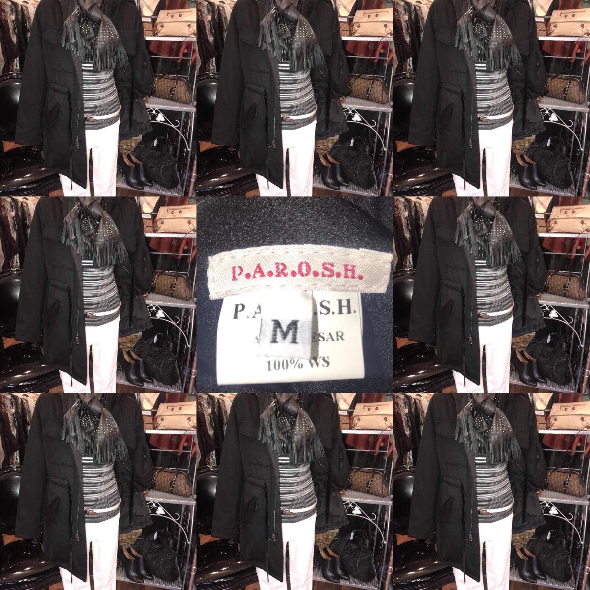 Parosh Black duffle coat size 12 £299.JPG