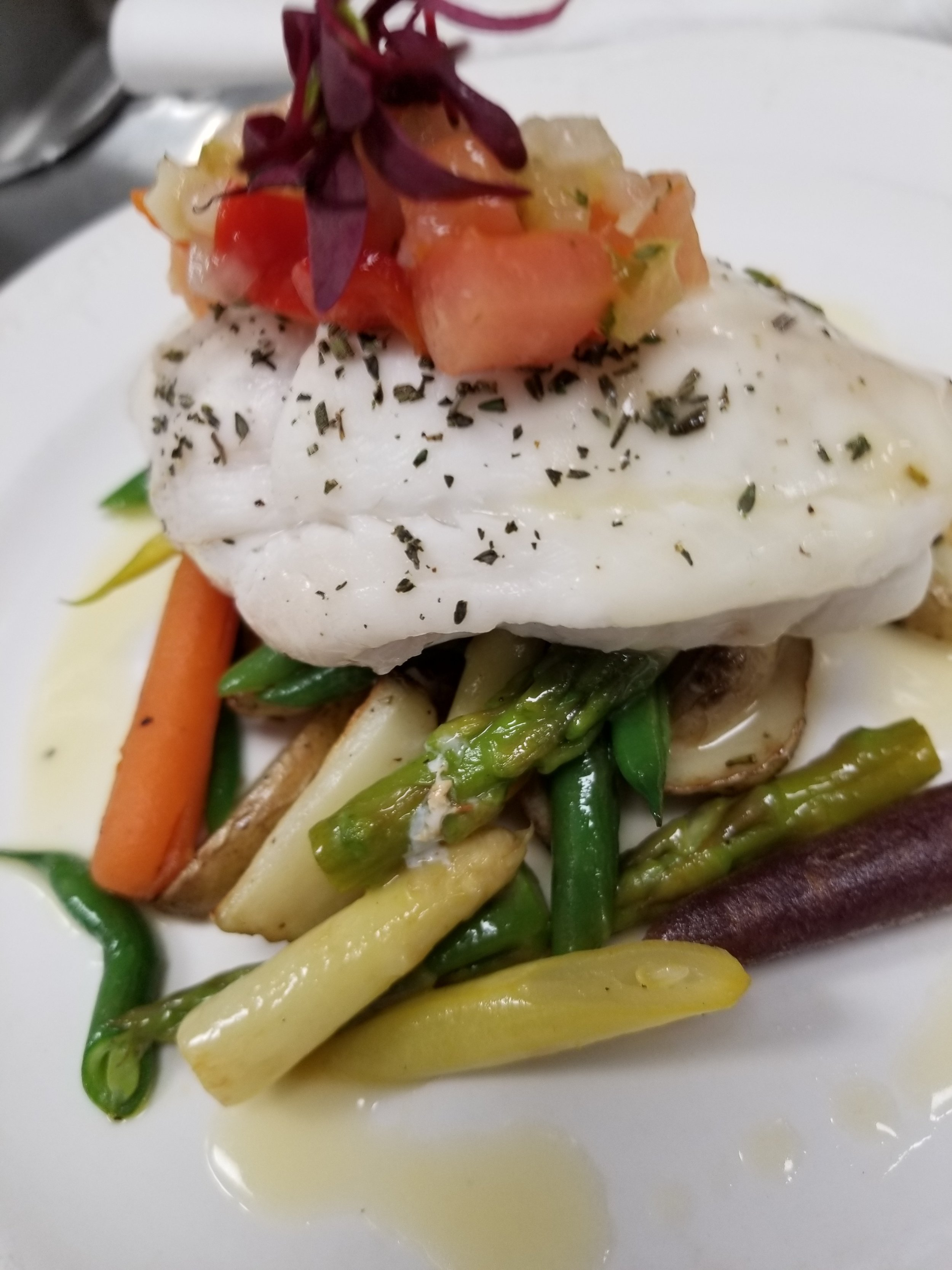 Dry Riesling Poached Lemon Sole