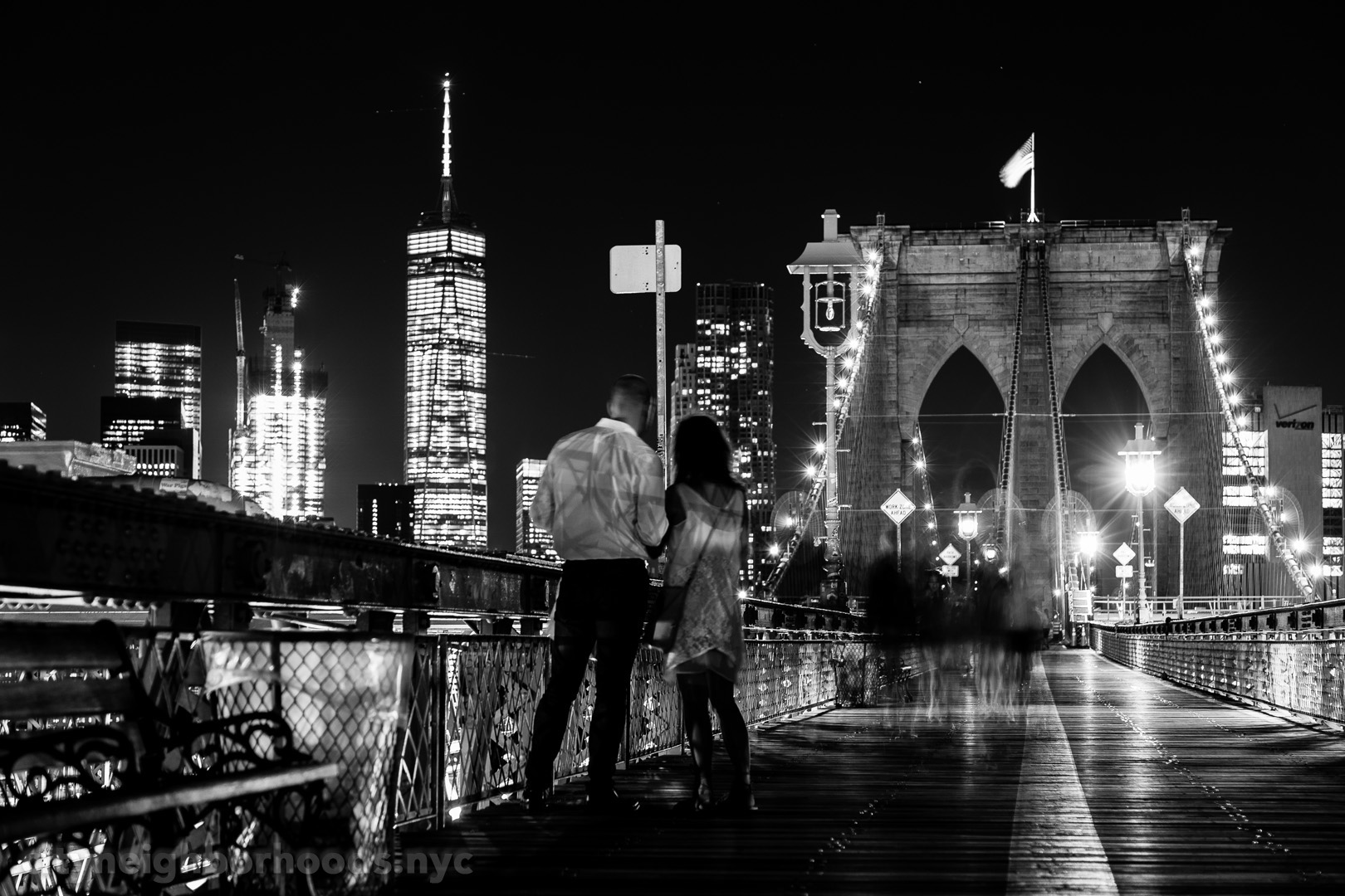 The Brooklyn Bridge - Lower Manhattan - World Trade Center - New York City