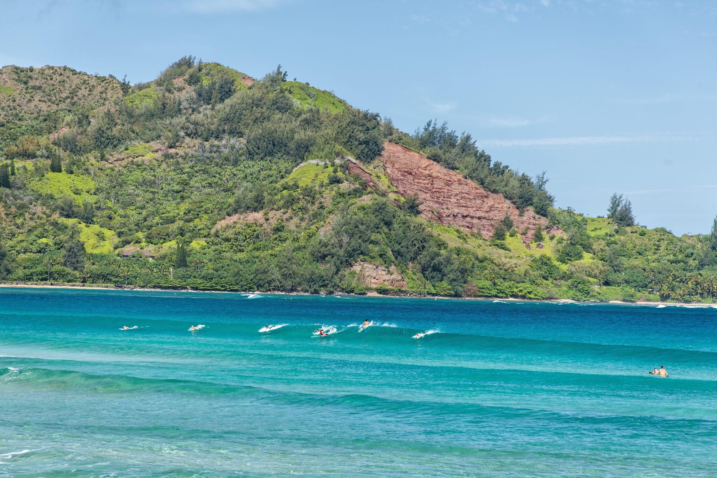 Hanalei Bay Surfing