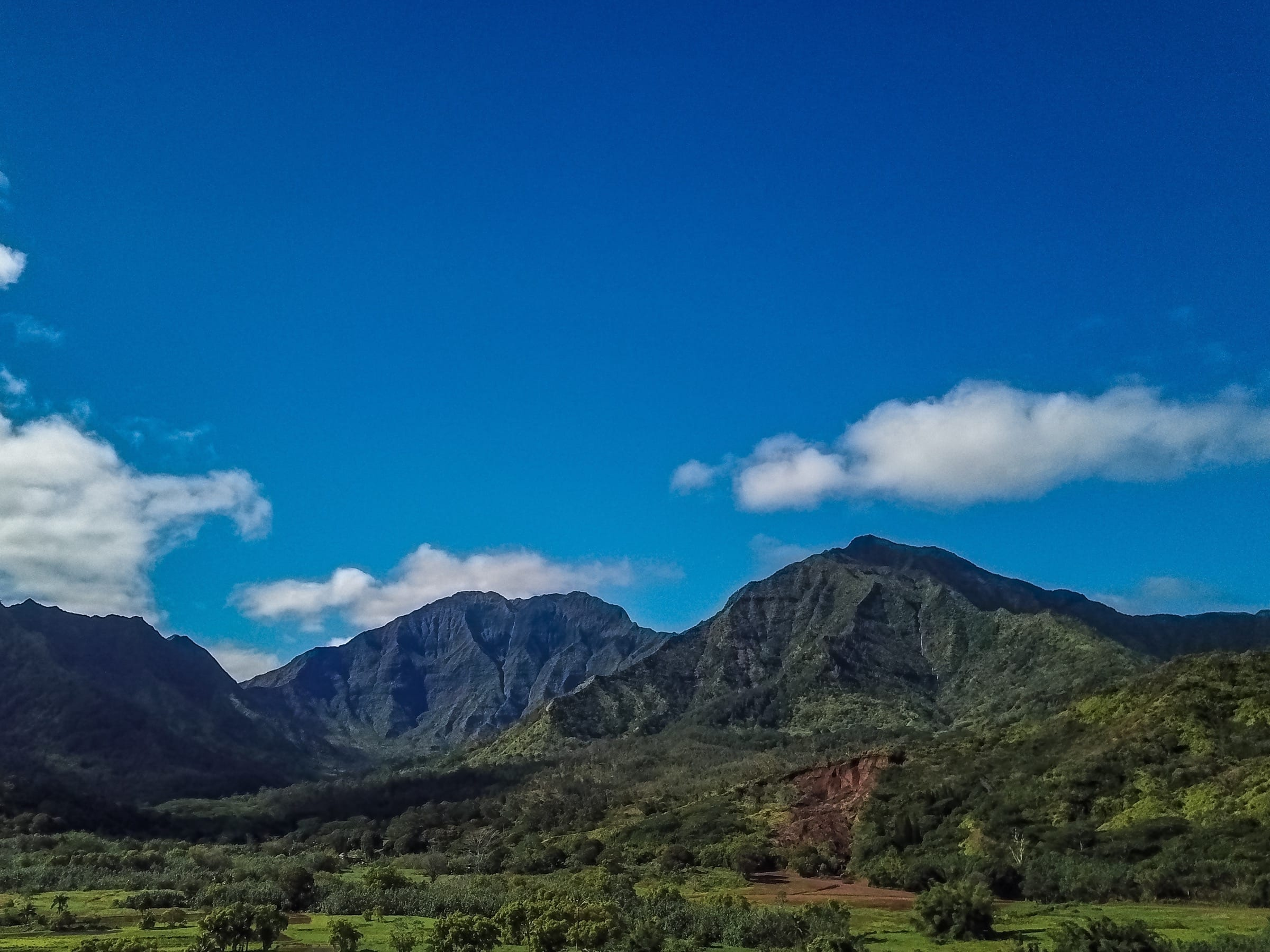 Hanalei Valley Mountains