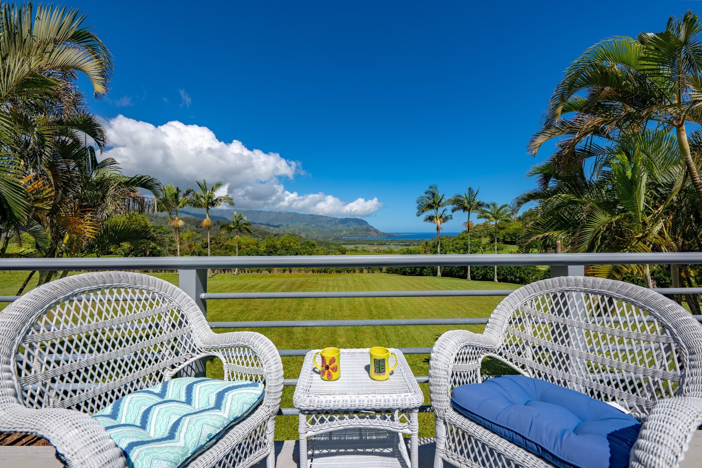 Lanai with View of Hanalei Bay