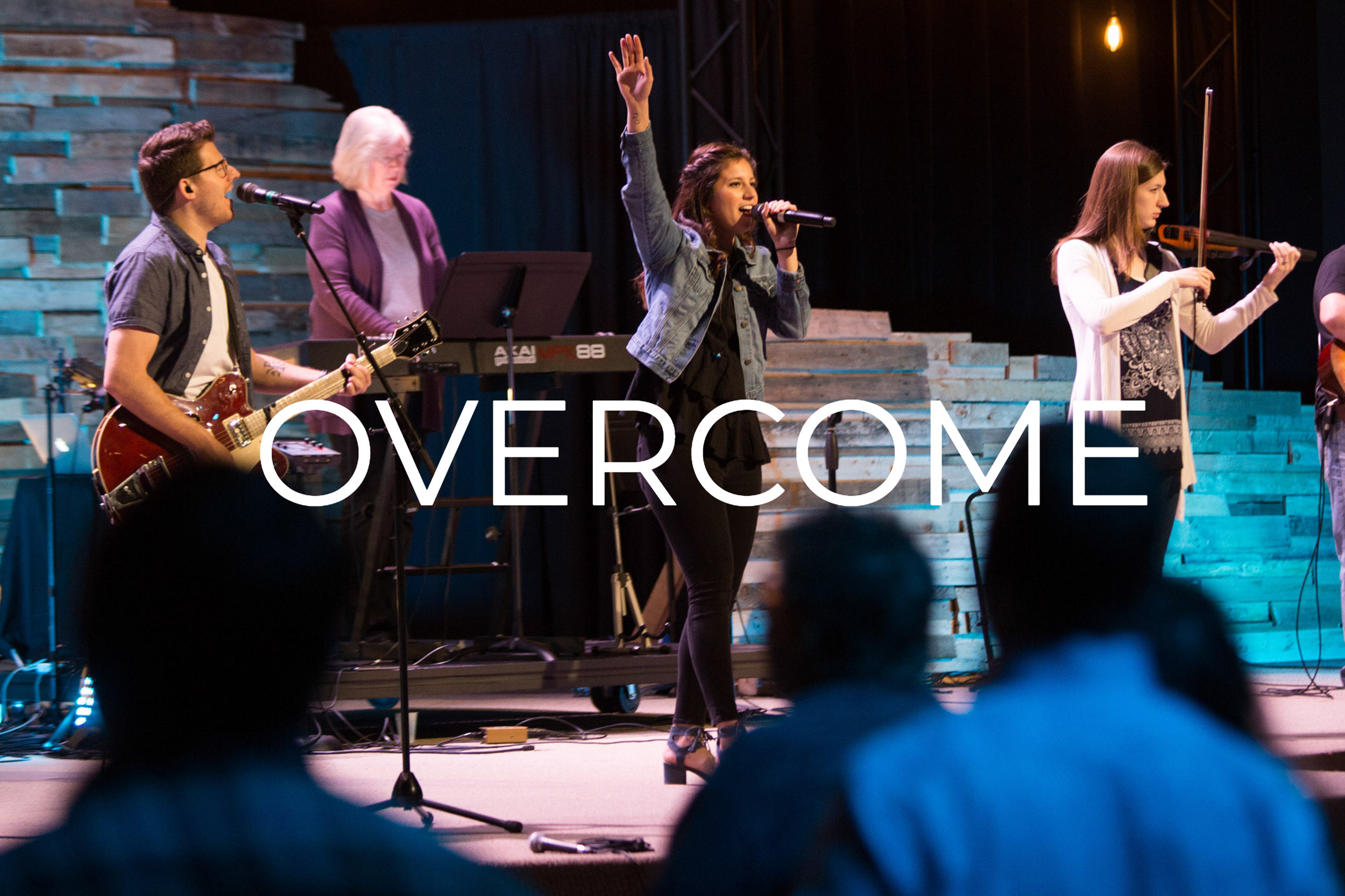 Overcome - Verse 1Now the darkness fadesInto new beginningsAs we lift our eyes to a hope beyondAll creation waitsWith an expectationTo declare the reign of the Lord our God ChorusWe will not be movedWhen the earth gives wayFor the risen One has overcomeAnd for every fearThere's an empty graveFor the risen One has overcome Verse 2Now the silence breaksIn the name of JesusAs the heavens cry let the earth respondAll creation shoutsWith a voice of triumphTo declare the reign of the Lord our God ChorusWe will not be movedWhen the earth gives wayFor the risen One has overcomeAnd for every fearThere's an empty graveFor the risen One has overcome Bridge x2He shall reign foreverStrongholds now surrenderFor the Lord our God has overcomeWho can be against us?Jesus our DefenderHe is Lord and He has overcome! Chorus x2We will not be movedWhen the earth gives wayFor the risen One has overcomeAnd for every fearThere's an empty graveFor the risen One has overcome...