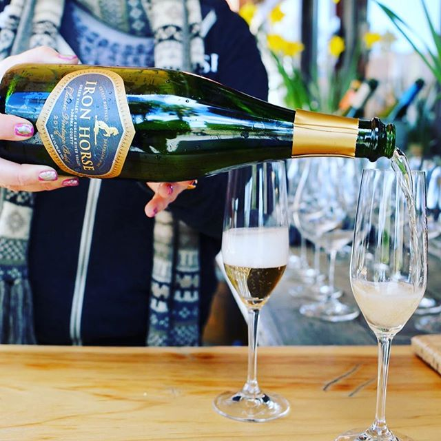 Happy Mother's Day! 🥂Mothers come by the restaurant today for a glass of @ironhorsevyds sparkling wine on us!  Regram from @ironhorsevyds #westmarin #pointreyes #marinsunfarms #mothersday #sparklingwine