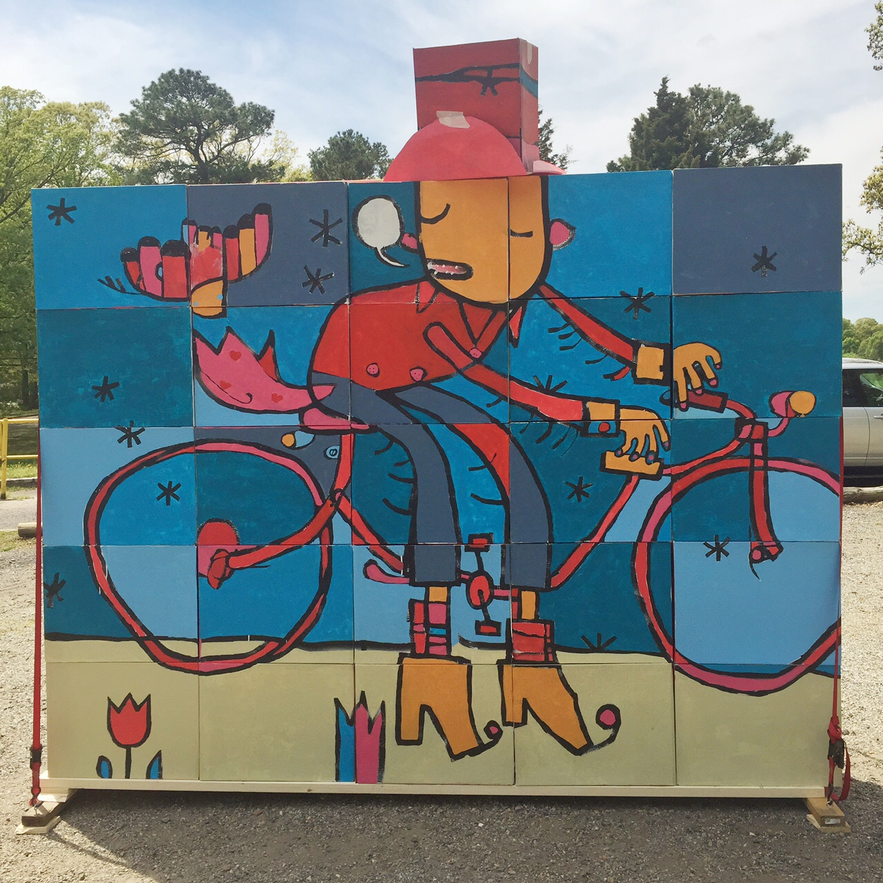 Bicycle Ya'll backdrop, Richmond 2015