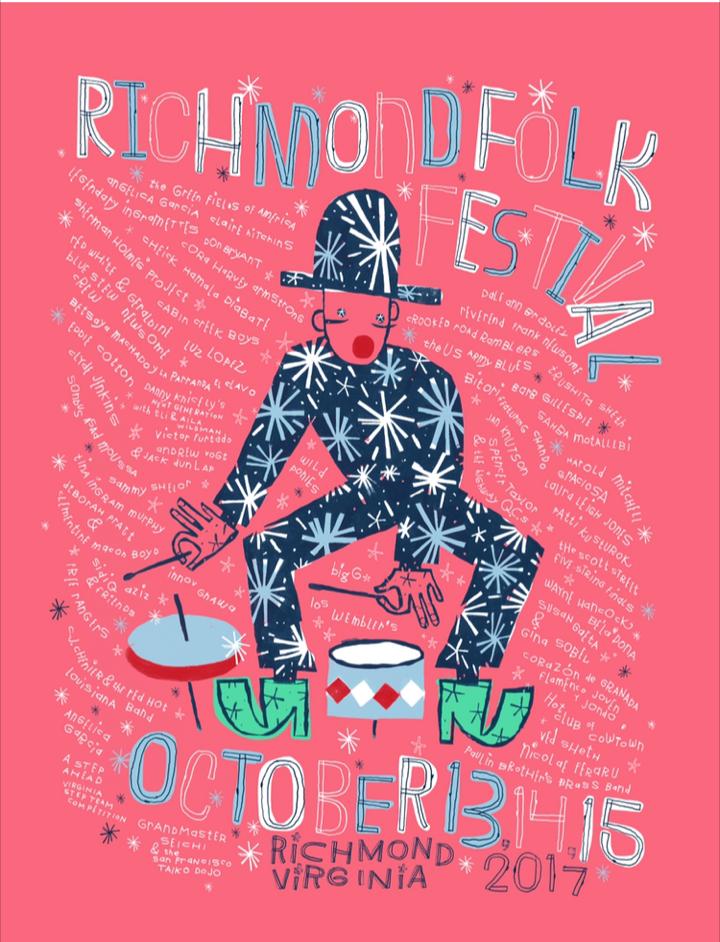 Richmond Folk Festival Poster, 2017