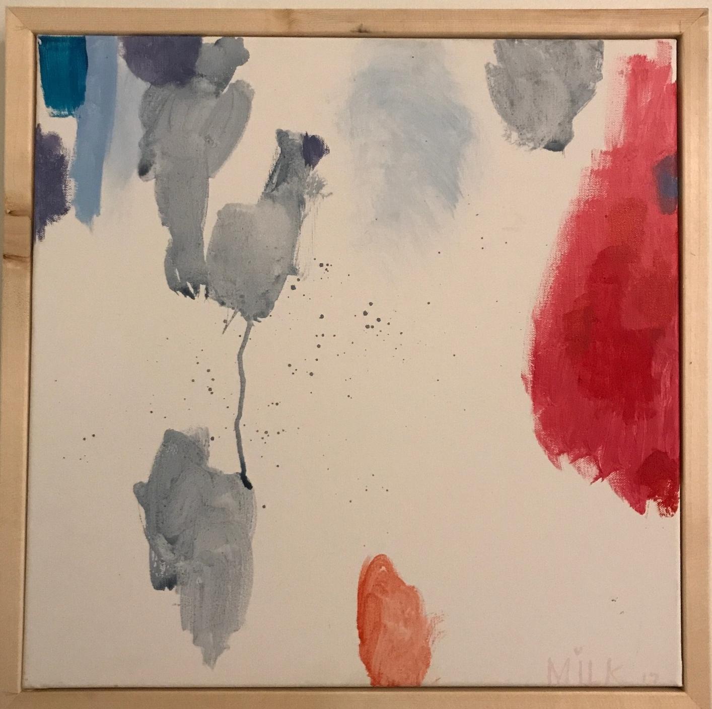 Summer, framed acrylic on canvas 18x18