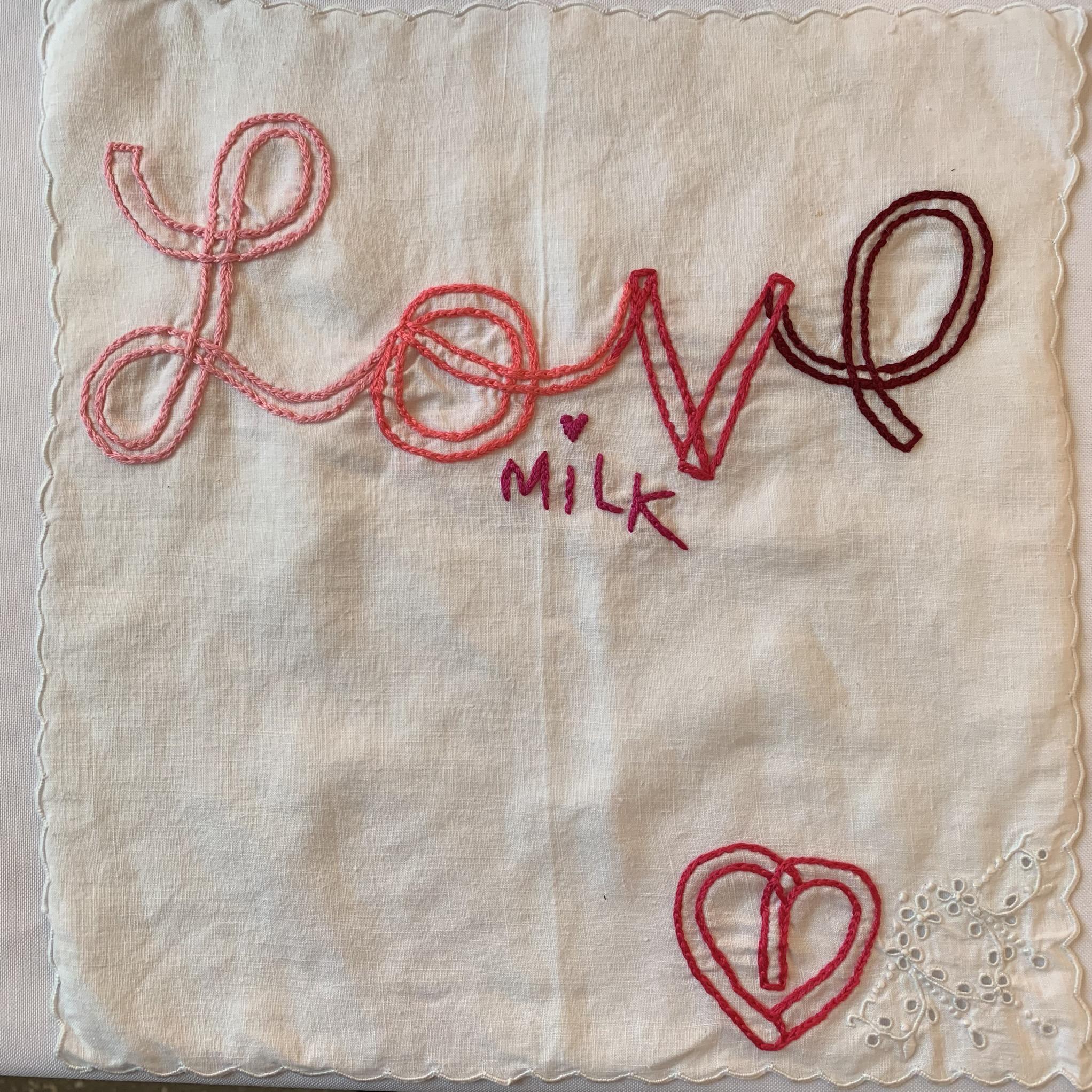 Love hanky, 12x12 antique linen, $40