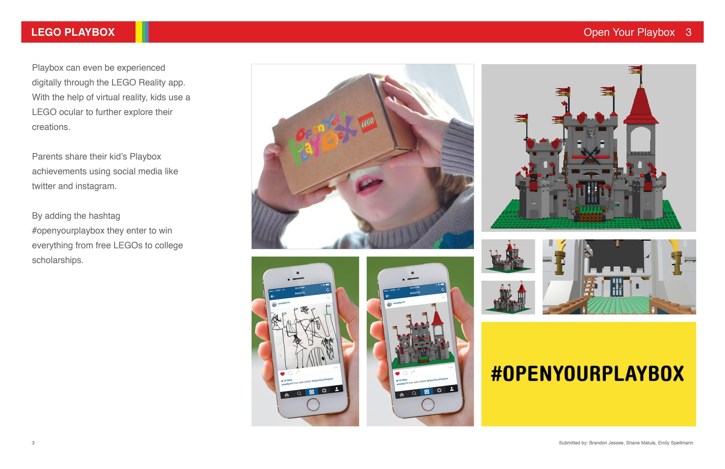 Lego Playbox: Presentation Board