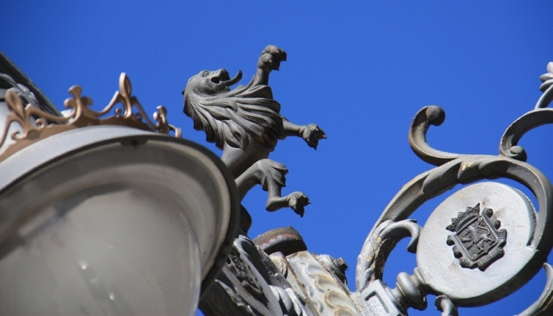 The Lion in León. Look up, there he is!