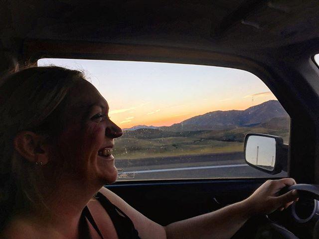 Road trippin' with my little family💜 . . . #sawtoothmountains #roadtrip #sunset #coredesiredfeelings #babymoon #idaho #instagood #travel #gooutside