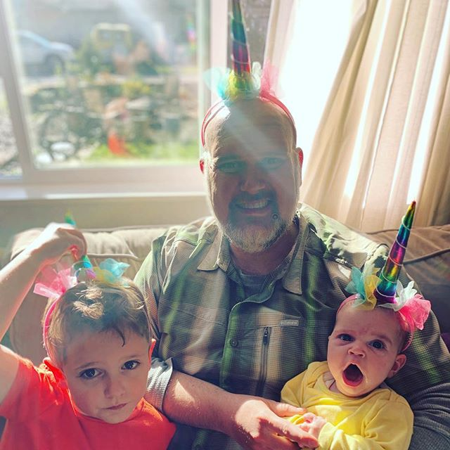 I sure love these magical unicorn humans 🌈 . . . #theluminouswild #unicorn #fourthtrimester #instagood #happybirthday