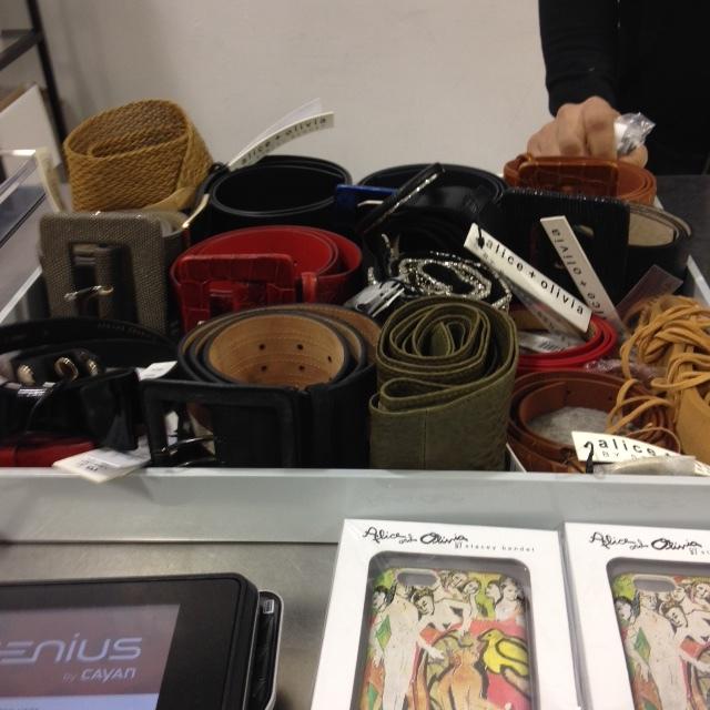alice and olivia sample sale belts.jpeg