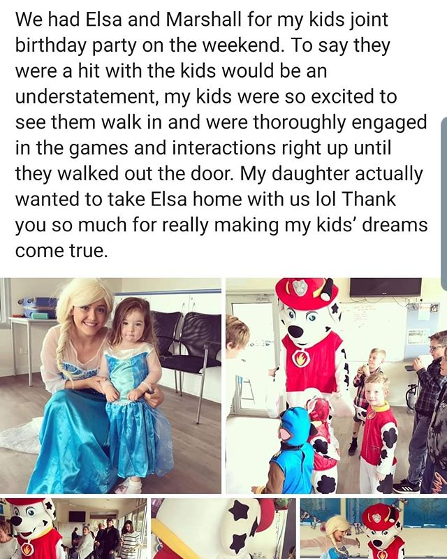#Feedback #Frozen #Elsa #QueenElsa #PawPatrol #Marshall #Birthdays #MagicalHappenings #kidsparties #entertainment #entertainers #party #kids