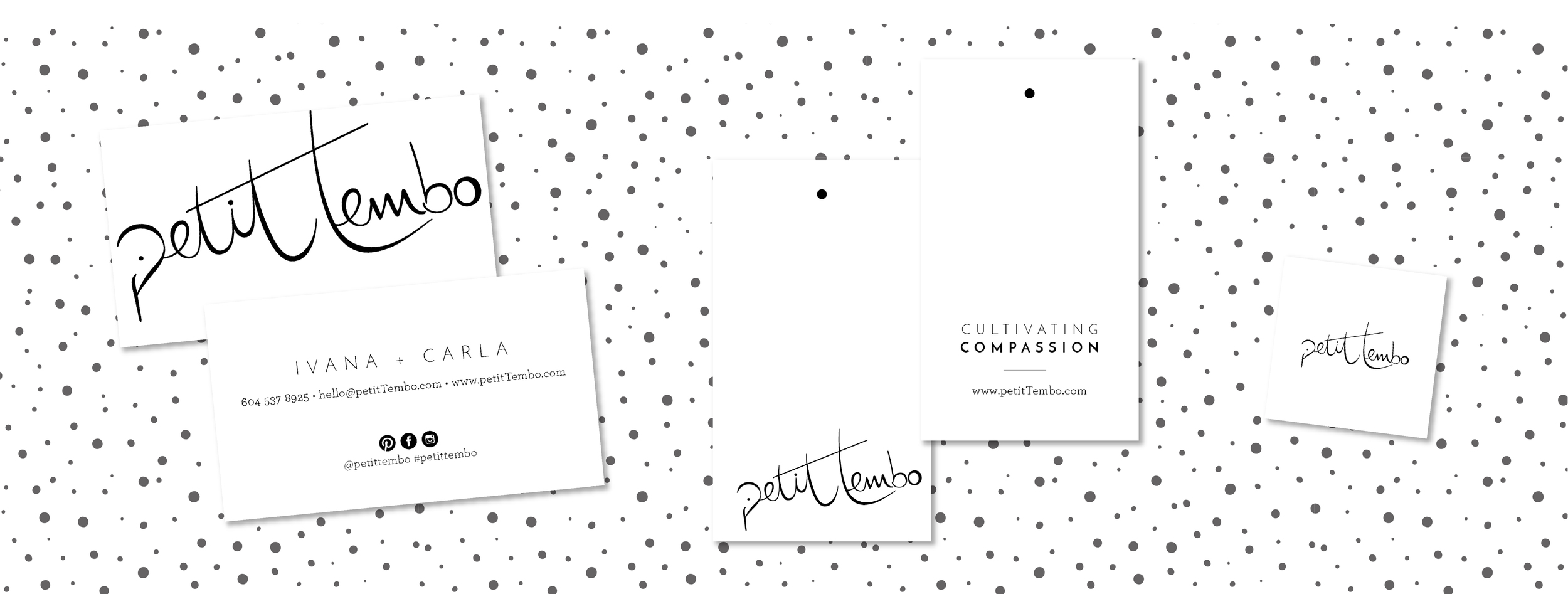 business card and hang tag designs
