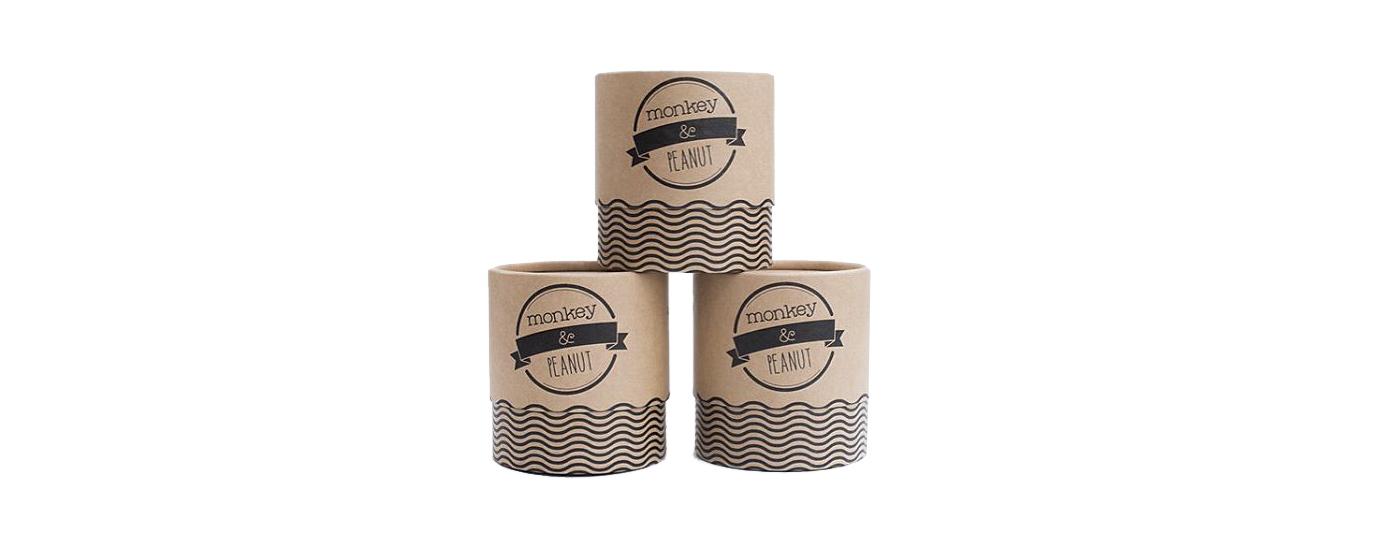 Round box kraft packaging