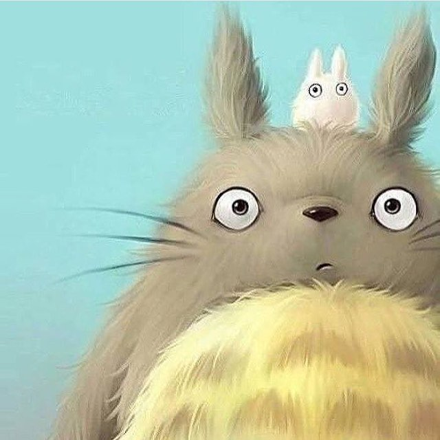 Beautiful drawing of #Totoro � – regram from @diana.says.maow