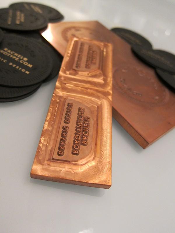 Copper die cut custom shape design