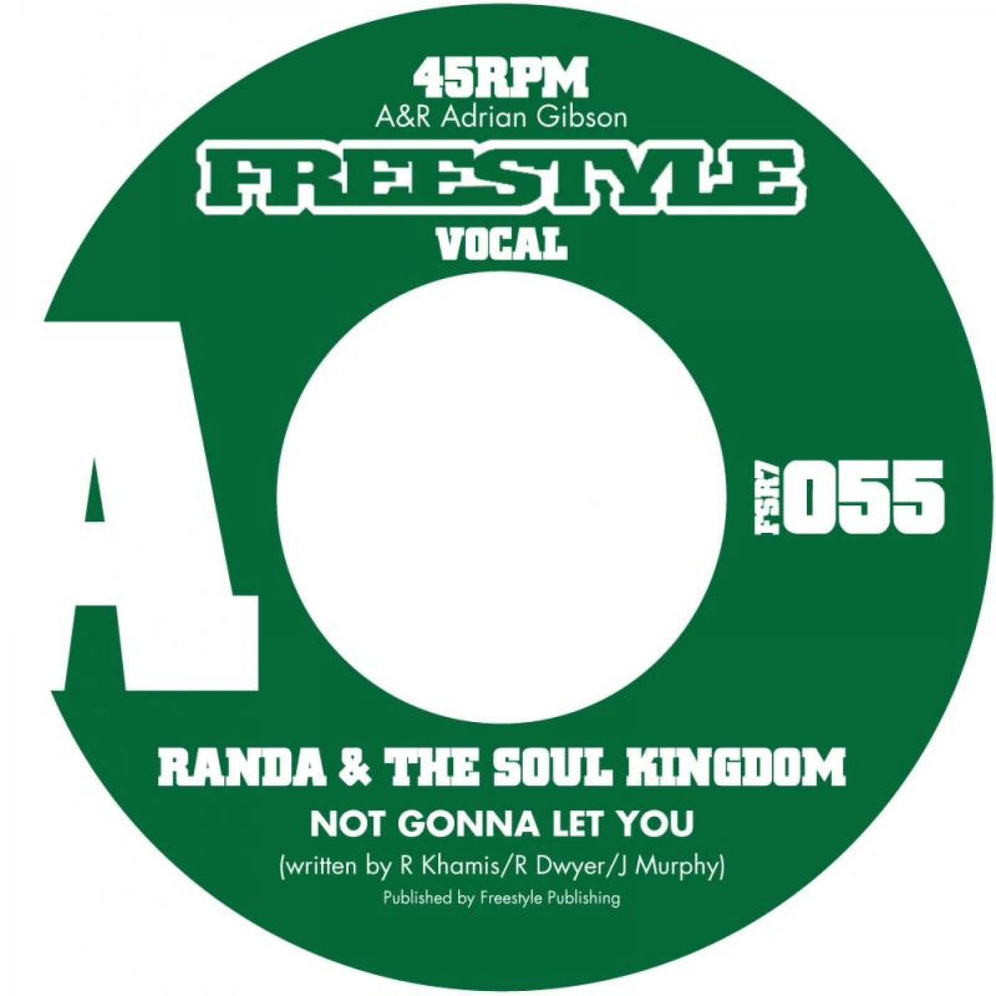 "48. Randa & The Soul Kingdom    'Not Gonna Let You'/ 'Not Gonna Let You' (instr)  Freestyle 7"" FSR7055 (Freestyle) UK 2009"