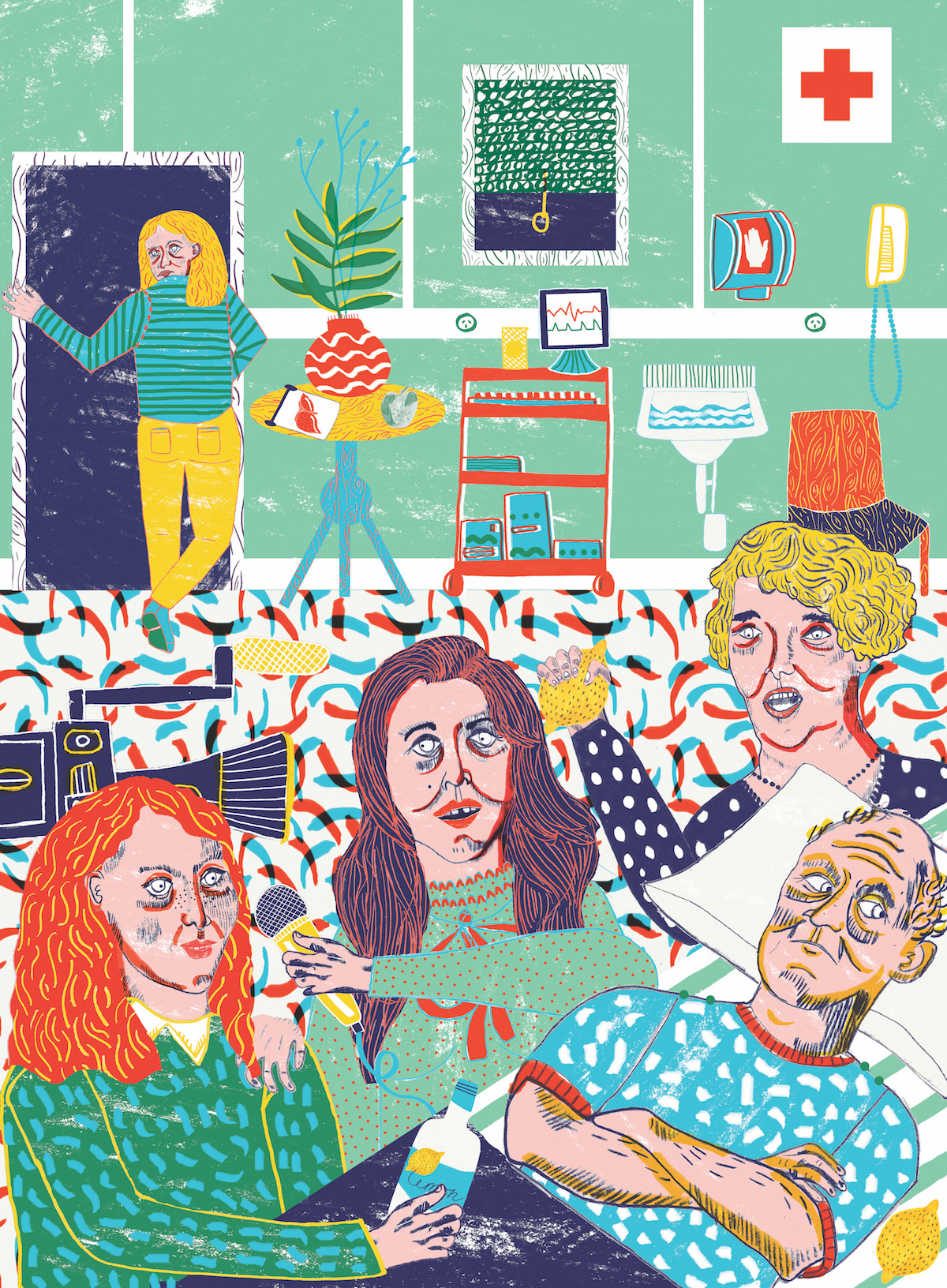An illustration by  Camilla Perkins  in   The Lifted Brow #24: The Medicine Issue  .