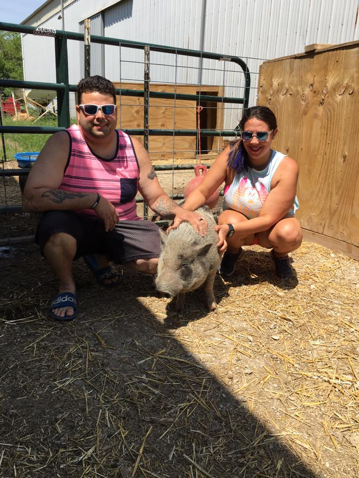 Popsicle and his humans (Ted and Becki)