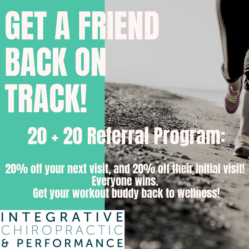 Refer a friend receive 20% off your next visit and they get 20% off their visit!