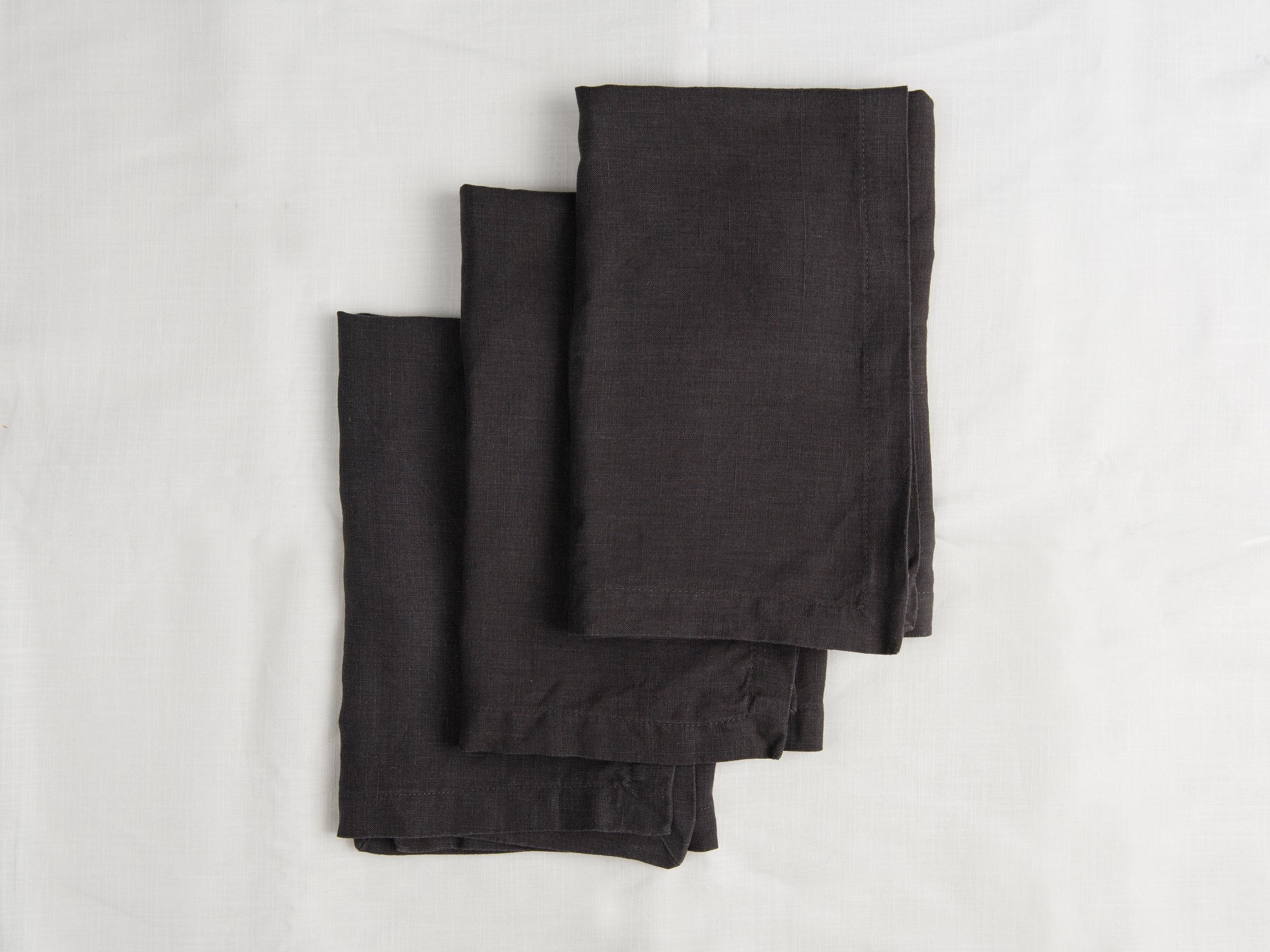 Linen Napkins - Black