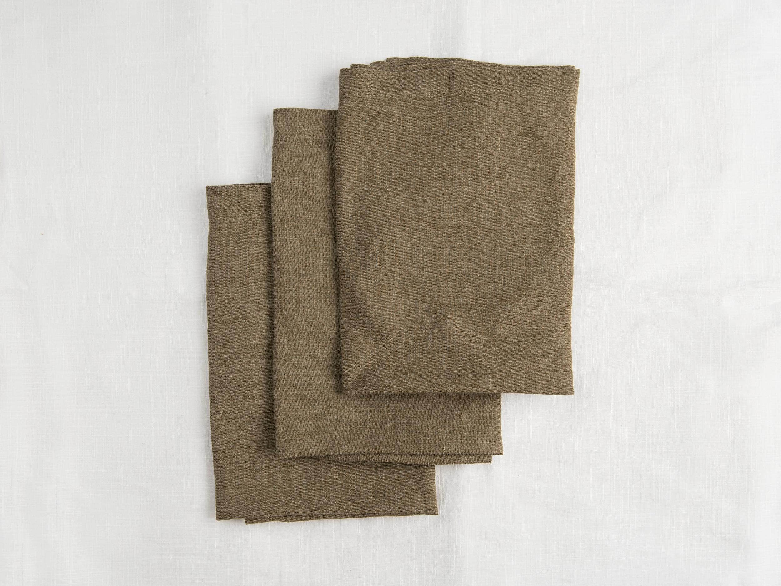 Linen Napkins - Khaki