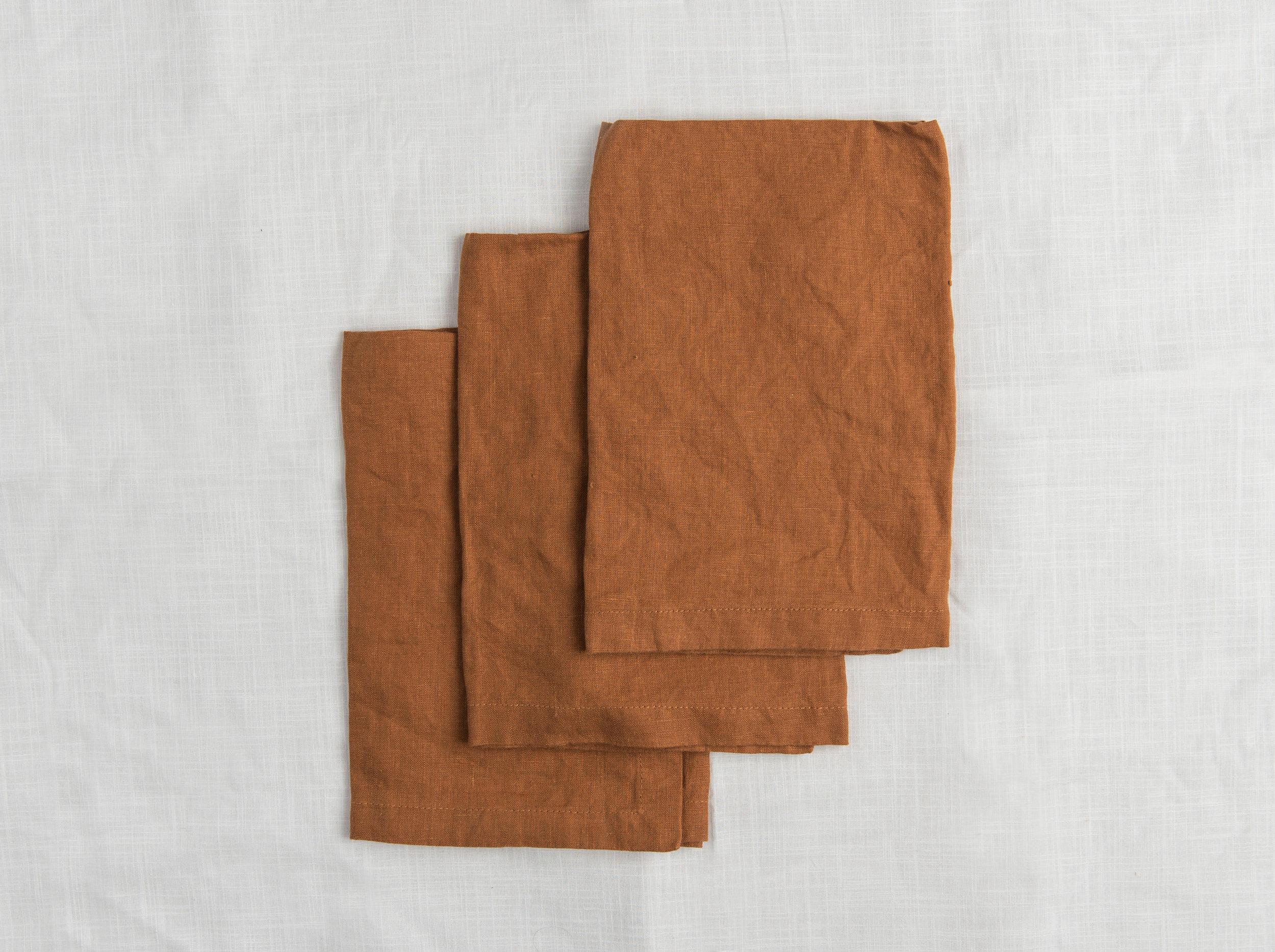 Linen Napkins - Tobacco