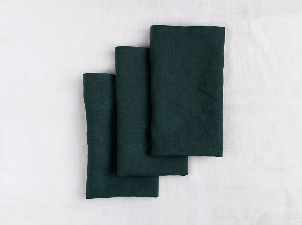 Linen Napkins - Green