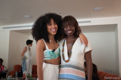 DJ Kitty Cash with The Other Festival Founder, Dee Poku