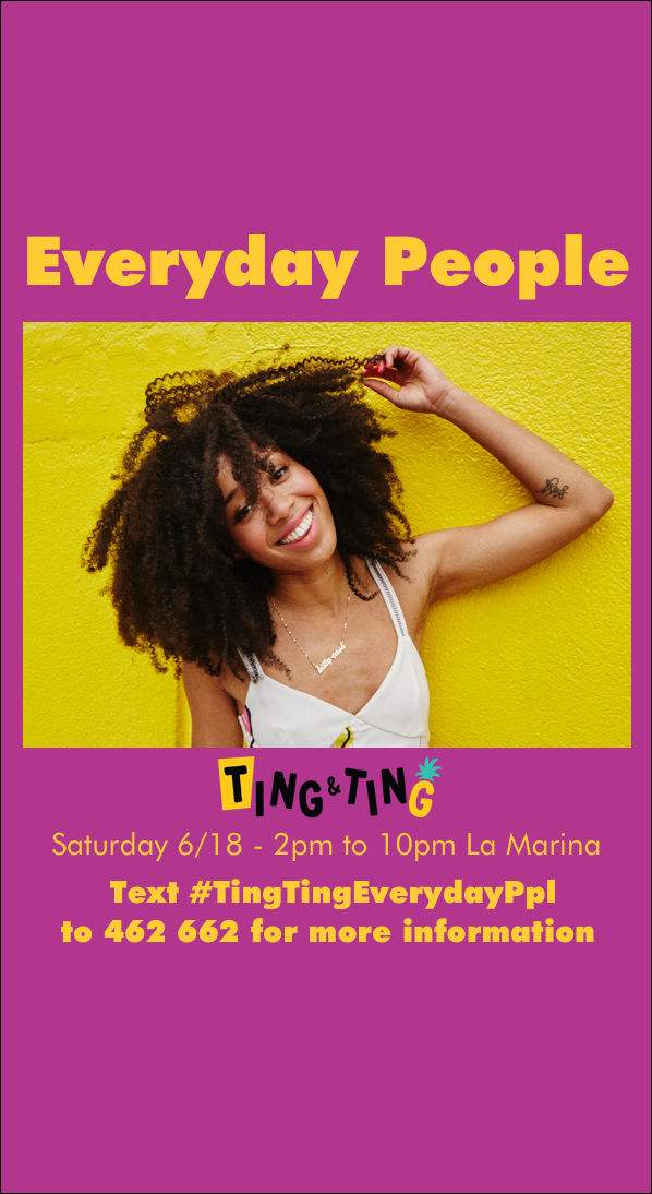 DJ Kitty Cash's Ting&Ting X Everyday People flyer