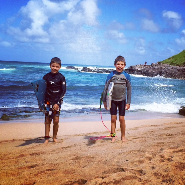 7 year olds at Ho'okipa