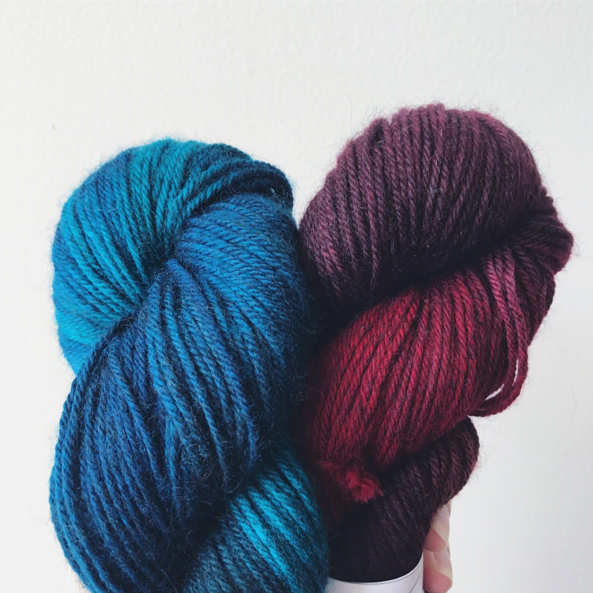 Lorna's Laces, Alperino, Harrison &Red Rover Image © Firefly Fiber Arts Studio