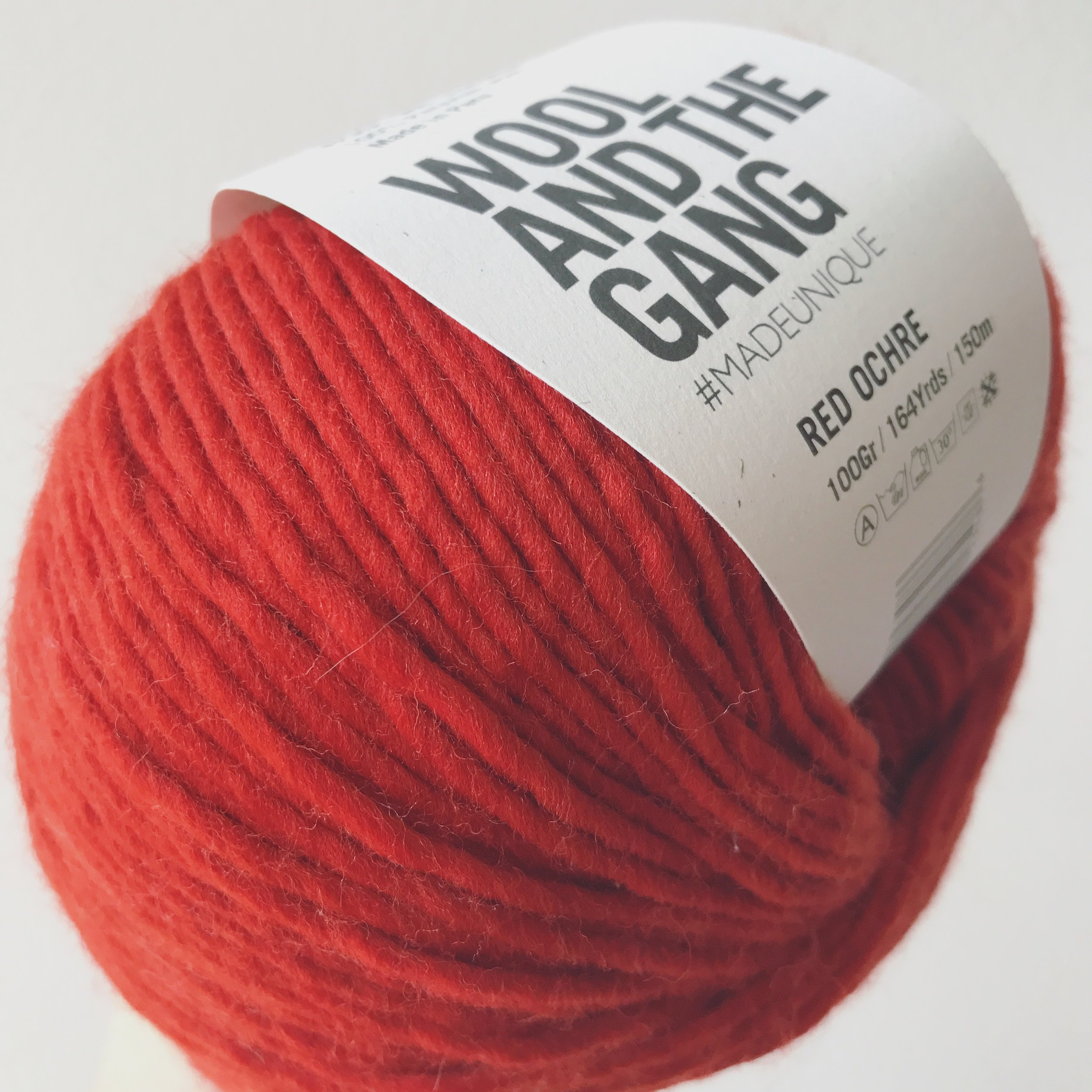 Wool & the Gang, Wool Me Tender, Red Ochre Image © Firefly Fiber Arts Studio