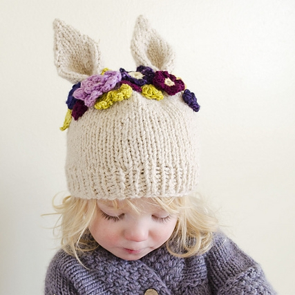 Hyzenthlay Rabbit Ears Beanie by Sheila Toy Stromberg mage © Sheila Toy Stromberg