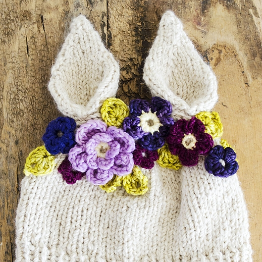 Hyzenthlay Rabbit Ears Beanie by Sheila Toy Stromberg Image © Sheila Toy Stromberg