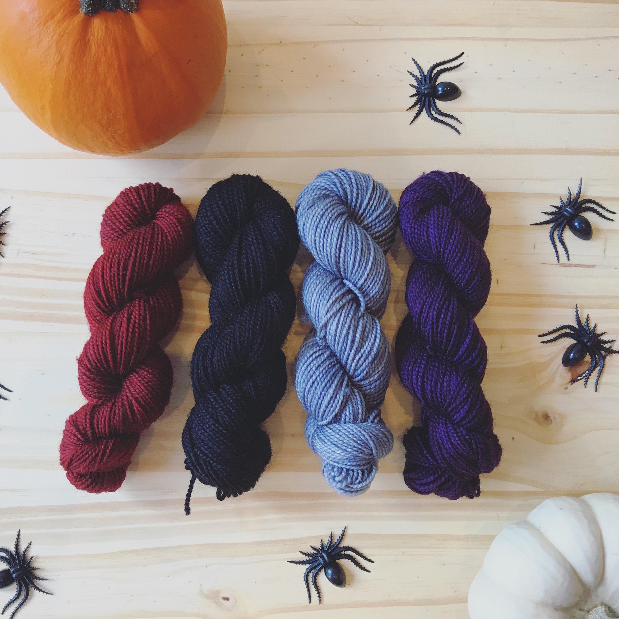 Why Knot, Sole, Vampire's Kiss Mini Kit Image © Firefly Fiber Arts Studio