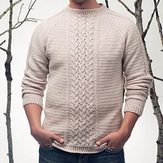 Telegraph Sweater by Peter Franzi Image © Interweave Crochet 2015