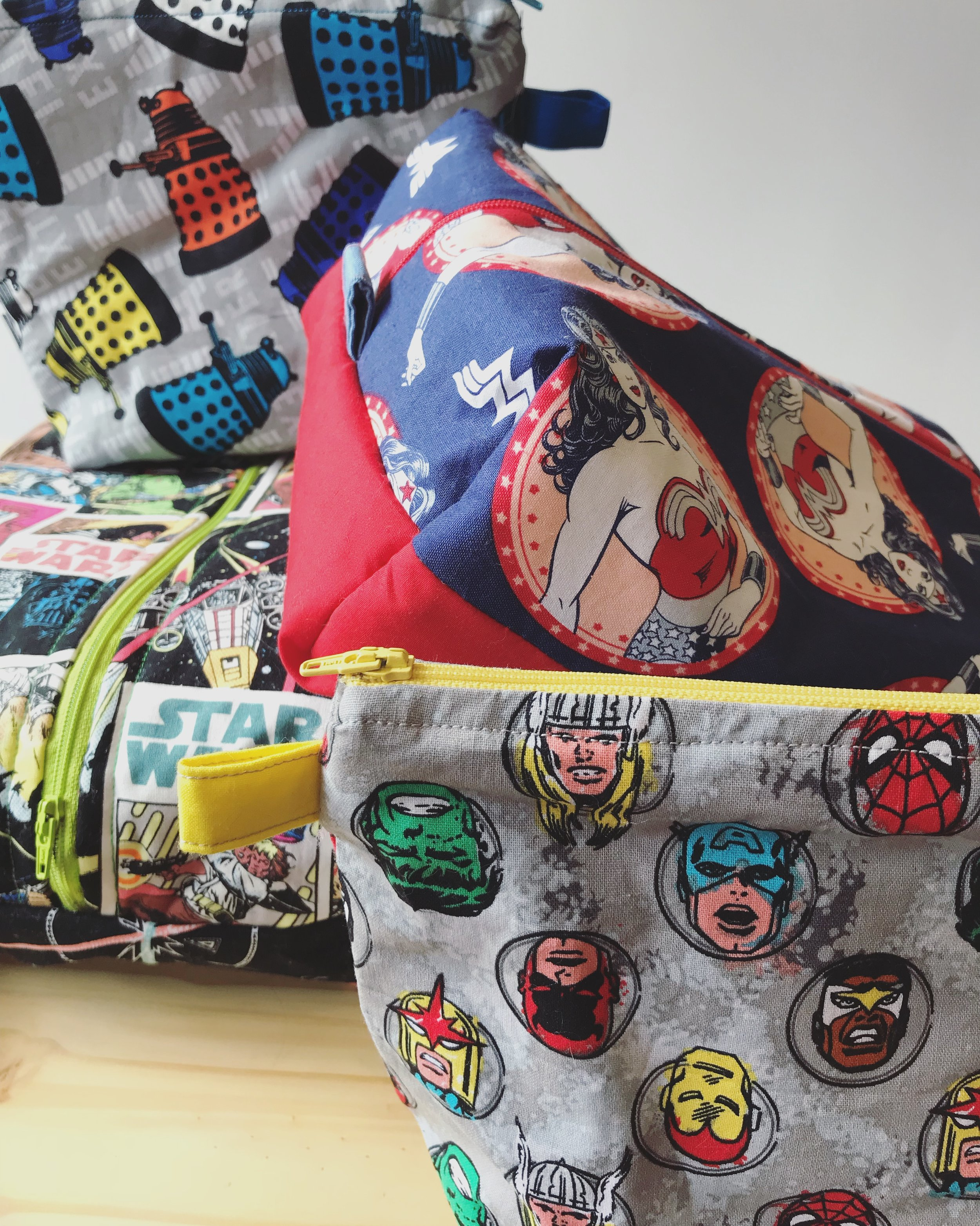 Handmade Project bags by jackie valdez Image © firefly fiber arts studio