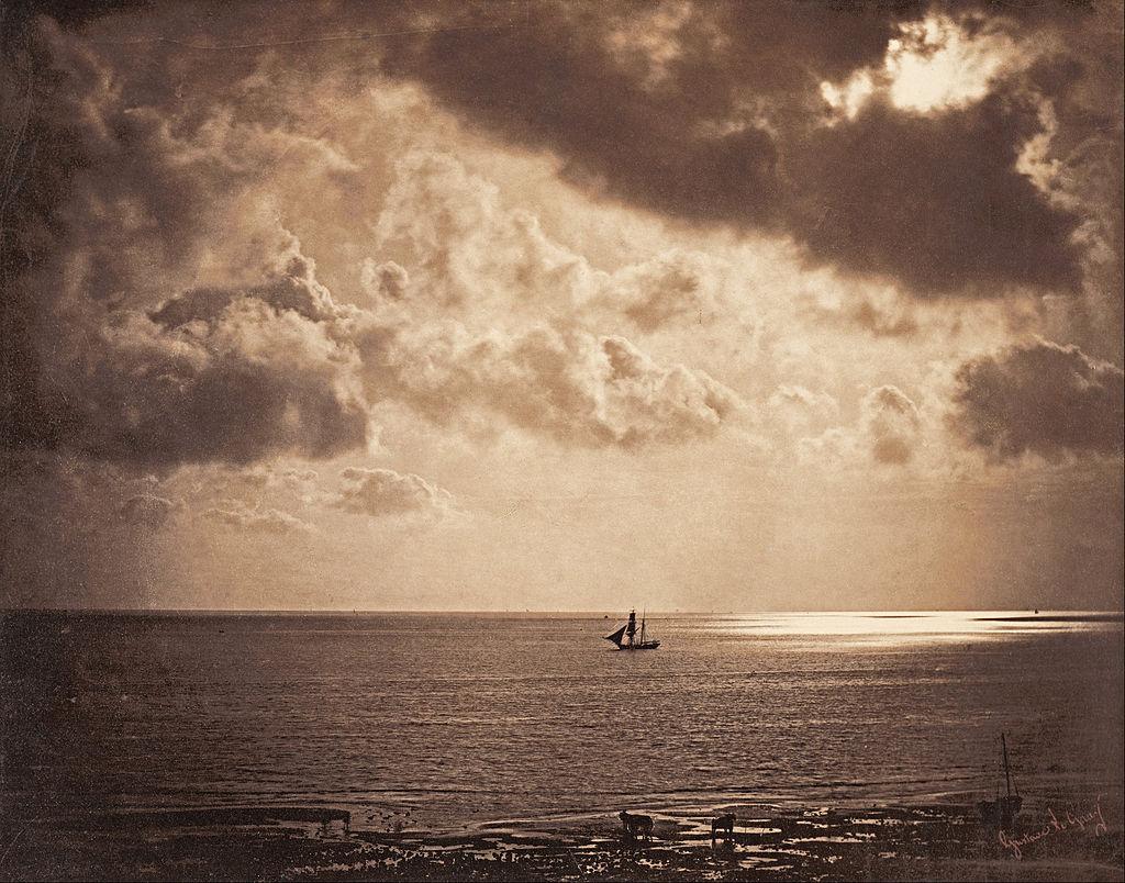 Gustave Le Gray's composite seascape.